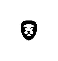 lion face logo design template heraldic vector image