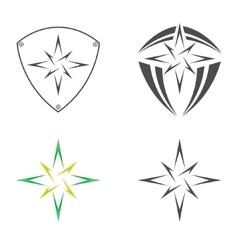 logo star bethlehem vector image