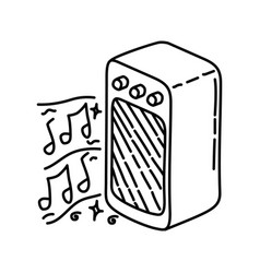 lovely music icon doodle hand drawn or outline vector image