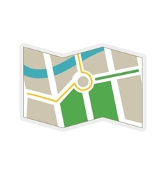 Map icon navigation instrument design vector