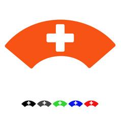 Medical visor flat icon vector