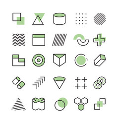 memphis templates abstract geometrical symbols vector image