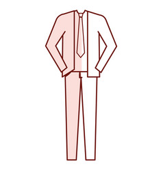 men stylish outfit model vector image