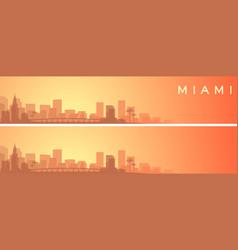miami beautiful skyline scenery banner vector image