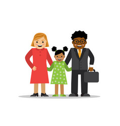 mixed family different races vector image