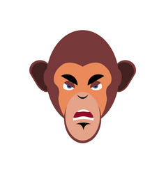Monkey angry emoji marmoset aggressive emotion vector