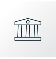 museum icon line symbol premium quality isolated vector image