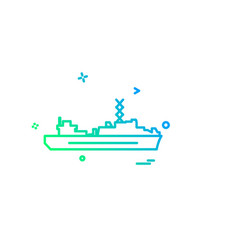 navy icons design vector image