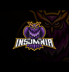 Owl mascot sport logo design vector