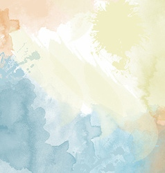 pastel watercolor background vector image