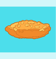 Patty hand drawn isolated food bakery products vector