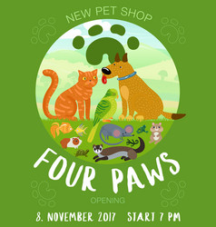 Pet shop poster vector