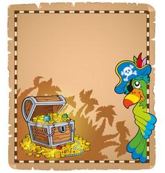 Pirate theme parchment 9 vector