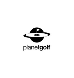 planet golf logo design concept vector image