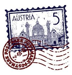 Postmark austria vector