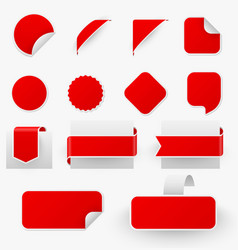 promo stickers advertising tags realistic vector image