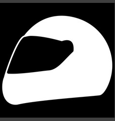 racing helmet the white color icon vector image