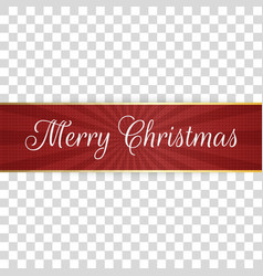 realistic greeting merry christmas red label vector image
