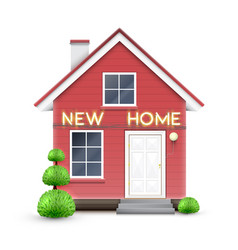 realistic house with new home sign vector image
