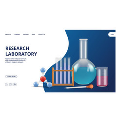 research laboratory landing page pharmaceutical vector image