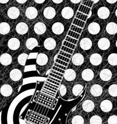 rock guitar illustration vector image