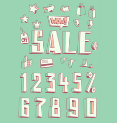 sale banner design set vector image