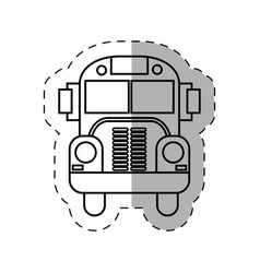 School bus transport thin line vector