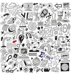 Science doodles vector