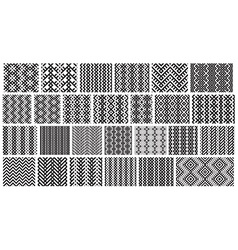 Set of 26 monochrome elegant seamless patterns vector