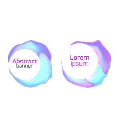 set of abstract foil banners liquid iridescent vector image