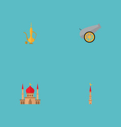 Set of religion icons flat style symbols with vector