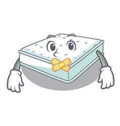Silent mattress in cartoon on the shape vector