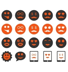 Smile and emotion icons vector image