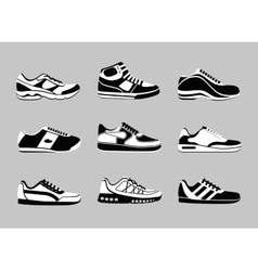 sneakers icons vector image
