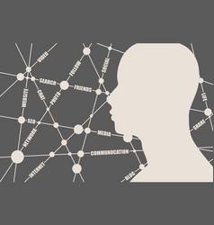 Social media tags cloud vector