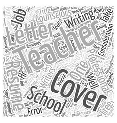 Special Cover Letter Considerations For Teachers vector
