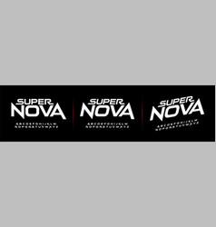 Sport future modern alphabet fonts technology vector