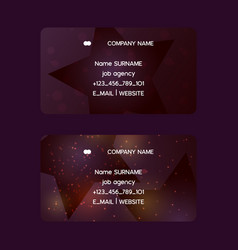star business card pattern creative vector image