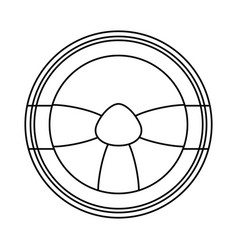 steering wheel icon image vector image