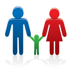 symbols of man woman and a child vector image