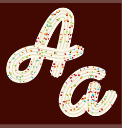 tempting tipography font design 3d letter a of vector image
