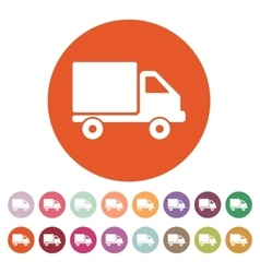 The truck icon Delivery and shipping symbol Flat vector image