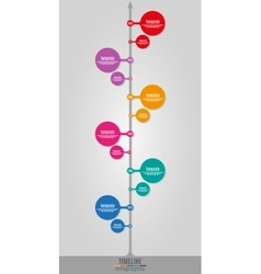 Timeline Infographics vertical vector image