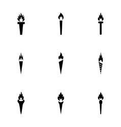 torch icon set vector image
