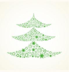 treechristmas snowflake vector image