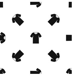 tshirt pattern seamless black vector image