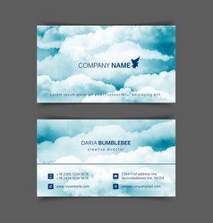 Two-sided horizontal flyer a4 format vector