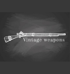 vintage weapon poster vector image