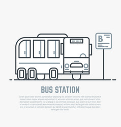 bus station line vector image vector image