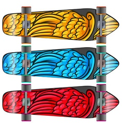 Colourful boards vector image vector image